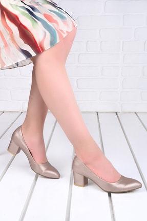 Picture of 1990-2023 Çizgili 5 cm Topuk Kadın Cilt Ayakkabı