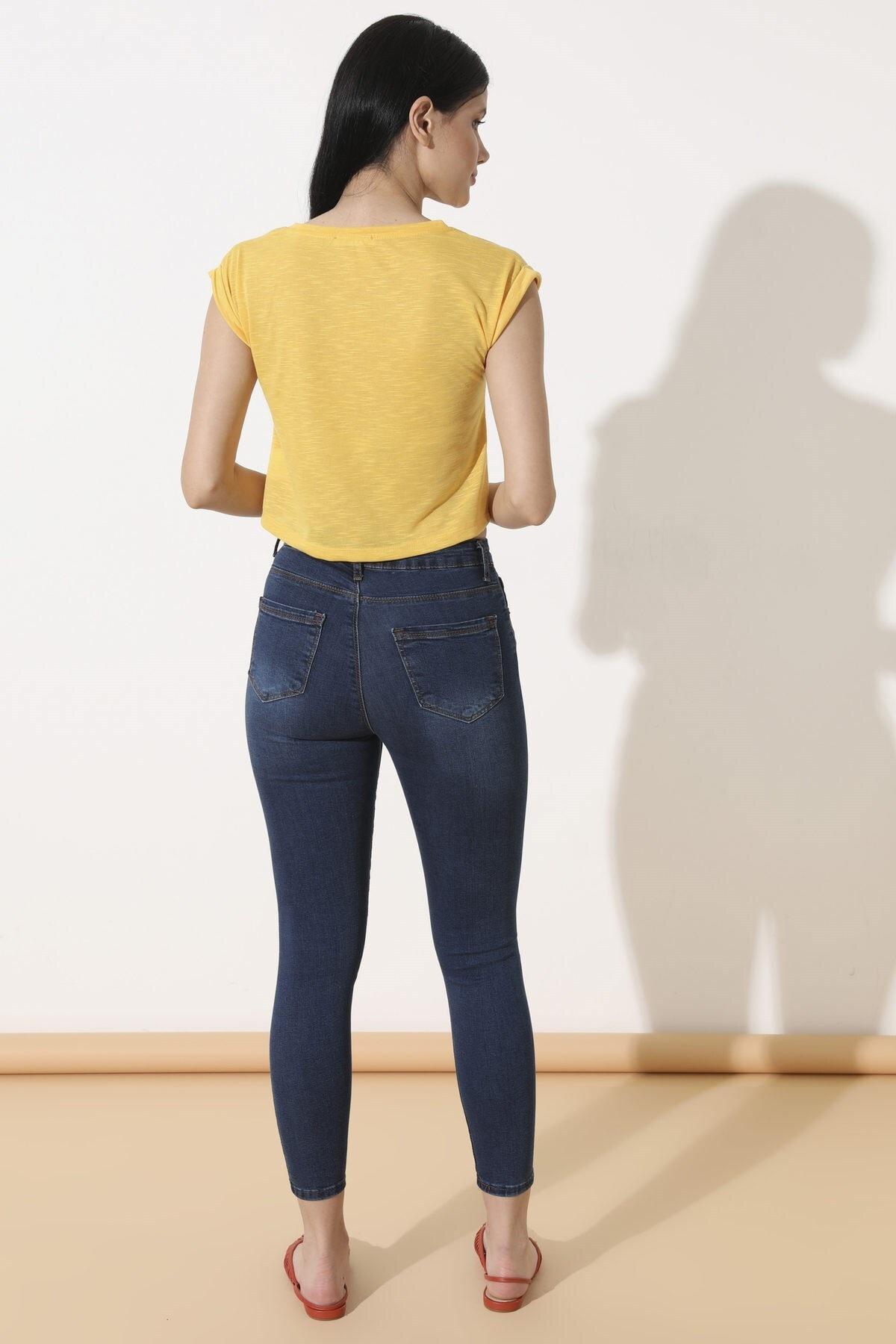 Arma Life Kadın Çağla Tint Yüksek Bel Pantolon 110-0Yb13259Ptl 4
