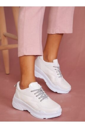 ayakkabıhavuzu Kadın Beyaz Spor Ayakkabı 1