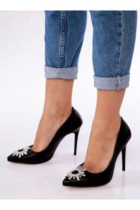ayakkabıhavuzu Kadın Siyah Klasik Topuklu Ayakkabı 2