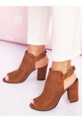 ayakkabıhavuzu Kadın Taba Süet Topuklu Ayakkabı 2