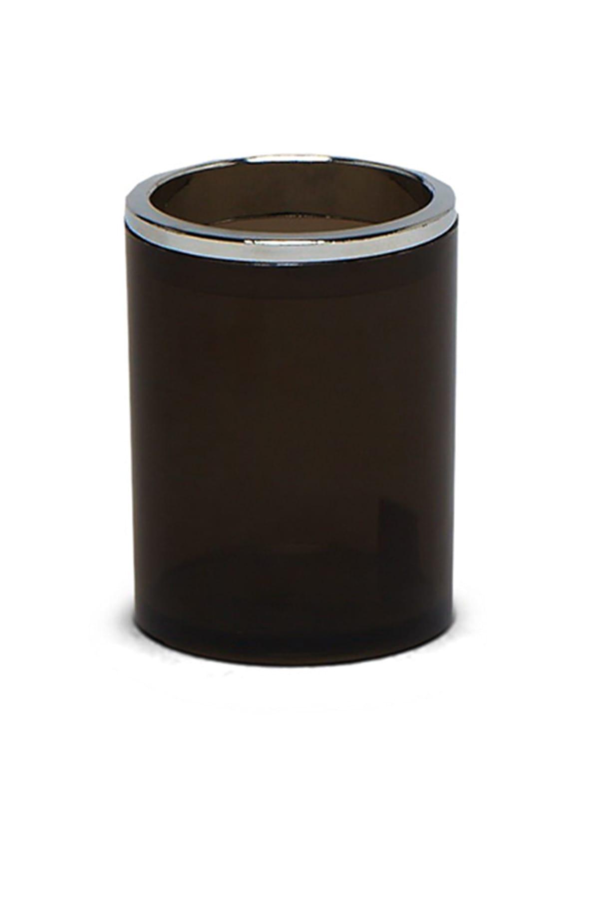 Lenox Diş Fırçalık Şeffaf Siyah (E33)