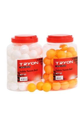 TRYON Masa Tenisi Topu 60 Lı 0