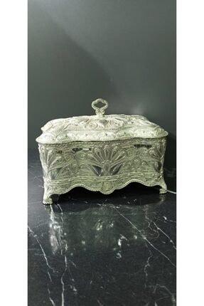 Gümüş Dekoratif Aksesuar Kutu D-7598