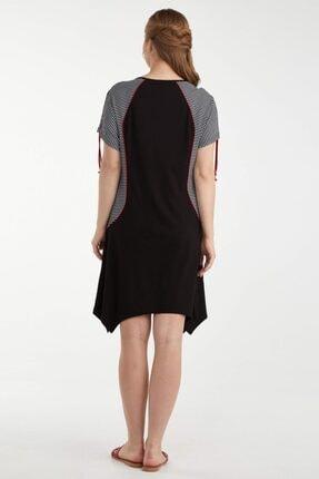Sementa Büyük Beden Kadın Marine Elbise - Siyah 3