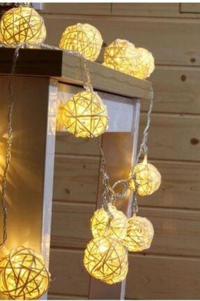 GLR Pamuk Top Led Dize 2mt. 10 Top Gün Işığı (Sıcak Satı) Dekoratif Pilli Led Aydınlatma 1