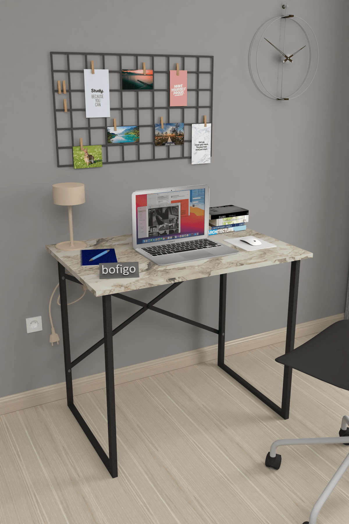 Bofigo 60x90 cm Çalışma Masası Laptop Bilgisayar Masası Ofis Ders Yemek Cocuk Masası Efes 0