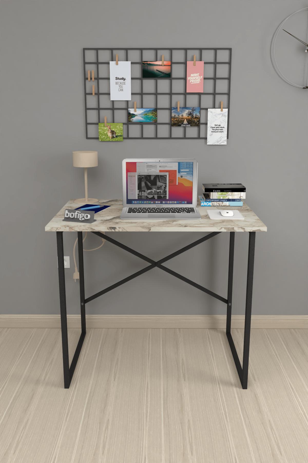 Bofigo 60x90 cm Çalışma Masası Laptop Bilgisayar Masası Ofis Ders Yemek Cocuk Masası Efes 2