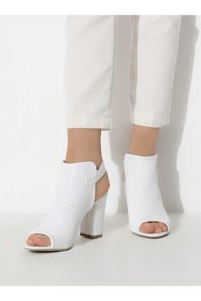 ayakkabıhavuzu Kadın Beyaz Cilt Topuklu Ayakkabı 3