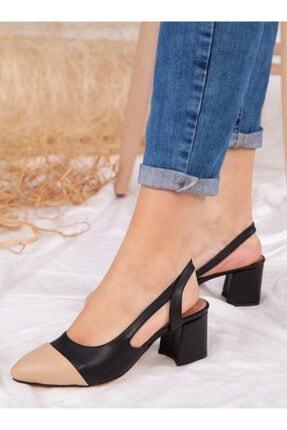 ayakkabıhavuzu Kadın Siyah Nude Topuklu Ayakkabı 2