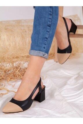 ayakkabıhavuzu Kadın Siyah Nude Topuklu Ayakkabı 3