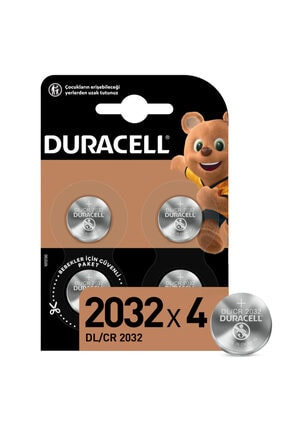 Duracell Özel 2032 Lityum Düğme Pil,  4'lü paket 0
