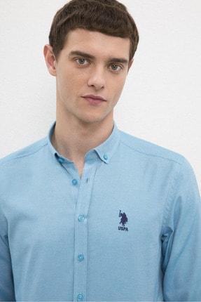 US Polo Assn Erkek Mavı Gömlek G081Gl004.000.1208586 1