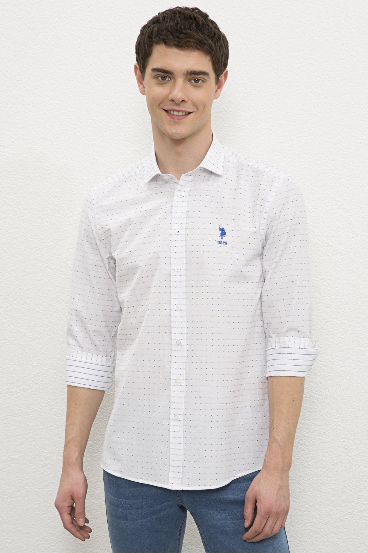 Beyaz Erkek Gömlek G081Sz004.000.1180207