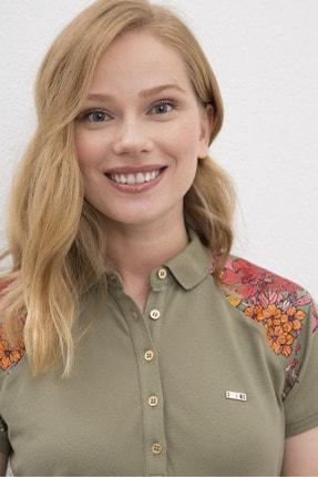 US Polo Assn Yeşil Kadin T-Shirt 1