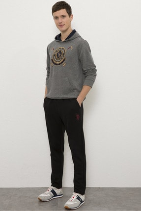 US Polo Assn Sıyah Erkek Örme Pantolon 1