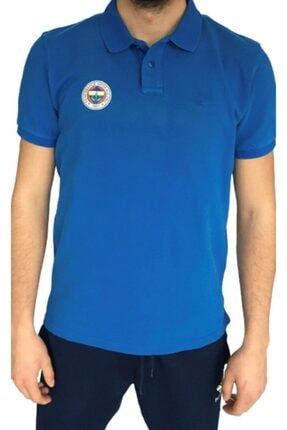 Picture of Erkek Polo Yaka Logolu Mavi T-shirt
