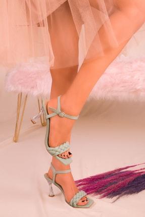 Soho Exclusive Yeşil Kadın Klasik Topuklu Ayakkabı 16076 2