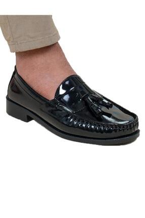 Loafer Siyah Puskullu Rugan Ayakkabı HOBA1042021