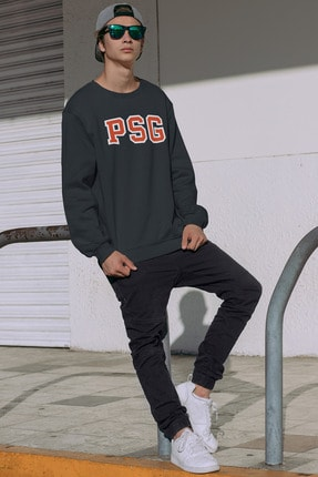 Pasage Kadın Gri Oversize Psg Baskılı Sweatshirt 3