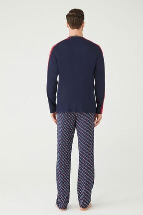 US Polo Assn Erkek Lacivert Patlı Pijama Takım 2