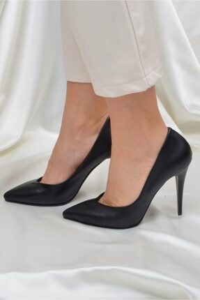 Kadın Siyah 10 Cm Topuklu Ayakkabı ETO-0015