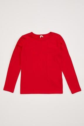 Defacto Kız Çocuk Uzun Kollu Basic Tişört 4