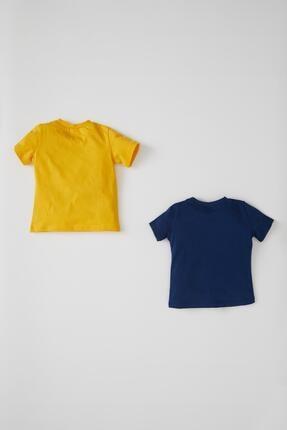 Defacto Erkek Bebek Baskılı 2'li Kısa Kol Pamuklu Tişört 0