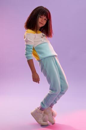 Defacto Kız Çocuk Unicorn Baskılı Jogger Eşofman Alt 0