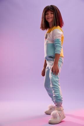 Defacto Kız Çocuk Unicorn Baskılı Jogger Eşofman Alt 1