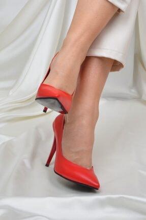 ETO Kadın Kırmızı 10 cm Topuklu Ayakkabı 2