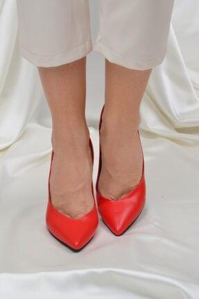 ETO Kadın Kırmızı 10 cm Topuklu Ayakkabı 3