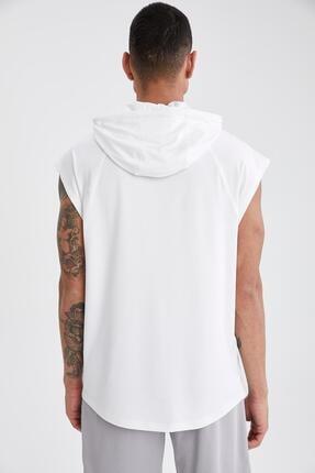 Defacto Baskılı Slim Fit Kolsuz Spor Sweatshirt 3