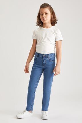 Defacto Erkek Çocuk Mavi Slim Fit Jean Pantolon 0
