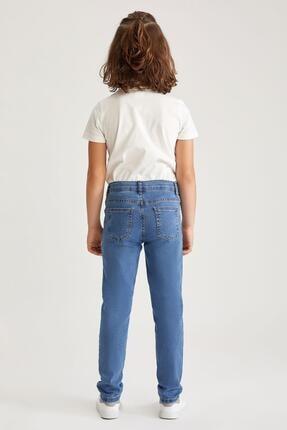 Defacto Erkek Çocuk Mavi Slim Fit Jean Pantolon 4