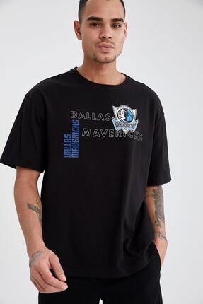Defacto Erkek Nba Lisanslı Oversize Fit Bisiklet Yaka Pamuklu Tişört 4