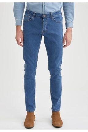 Defacto Pedro Slim Fit Normal Bel Dar Paça Jean Pantolon 0
