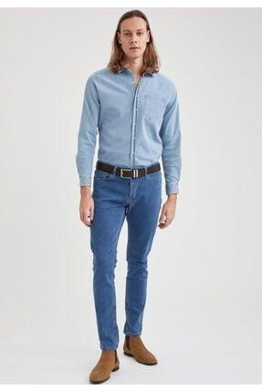 Defacto Pedro Slim Fit Normal Bel Dar Paça Jean Pantolon 1