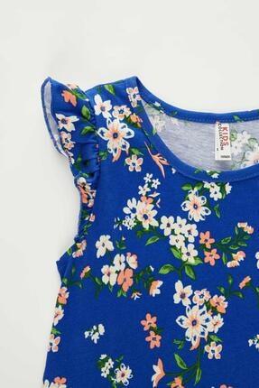 Defacto Kız Çocuk Çiçek Desenli Kolsuz Elbise 4