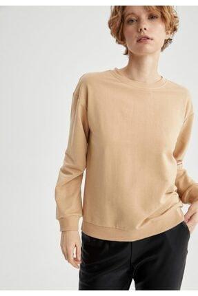 Defacto Basic Düşük Omuzlu Sweatshirt 4