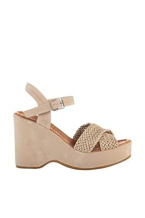 Soho Exclusive Vizon Süet Kadın Dolgu Topuklu Ayakkabı 15938 3