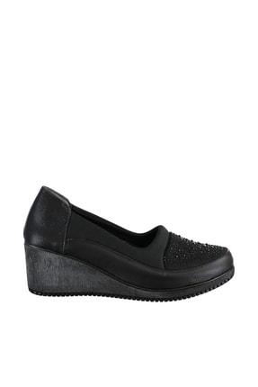 Soho Exclusive Siyah Kadın Dolgu Topuklu Ayakkabı 15979 2