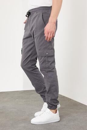 Enuygunenmoda Erkek Slim Fit Jogger Pantolon Antrasit 1
