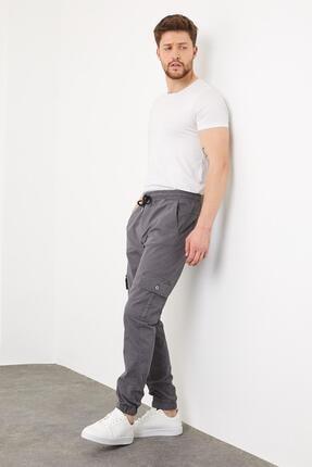 Enuygunenmoda Erkek Slim Fit Jogger Pantolon Antrasit 3