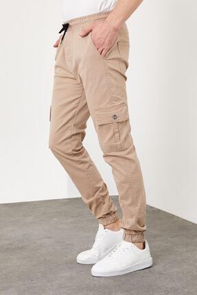 Enuygunenmoda Erkek Slim Fit Jogger Pantolon Bej 1