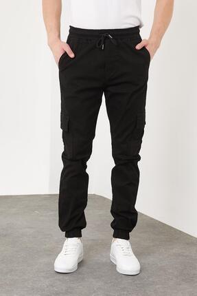 Enuygunenmoda Erkek Slim Fit Jogger Pantolon Siyah 2