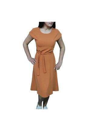 Kiremit Rengi Elbise E0031