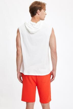 Defacto Slim Fit Basic Kapüşonlu Kolsuz Tişört 2