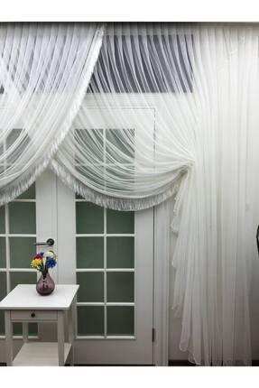 Esse Home Grek Tül Perde - Petek Zemin Kruvaze Tül (saçak Dahil), 550x250, Kravuze, 1/4 4