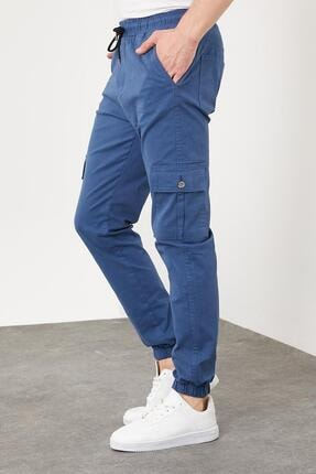 Enuygunenmoda Erkek Slim Fit Jogger Pantolon Mavi 1